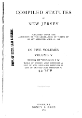Index of volumes 1-4. Table of session laws (appendix A) List of acts repealed (appendix B) List of omitted acts (appendix C)