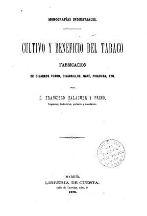 Cultivo Y Beneficio Del Tabaco