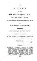 The Works of the Rev  Jonathan Swift  D D   Dean of St  Patrick s  Dublin PDF