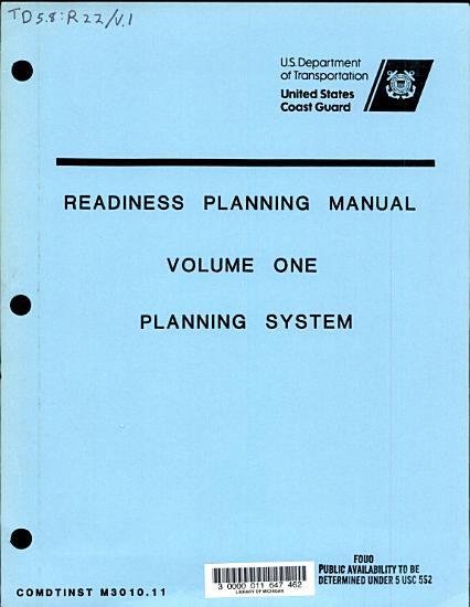 Readiness Planning Manual  Planning system PDF