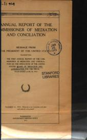 Annual report of the Commissioner of Mediation and Conciliation