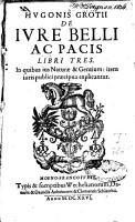 De iure belli ac pacis libri tres PDF