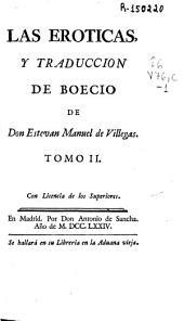 Las Eroticas y Traduccion de Boecio: Volumen 0
