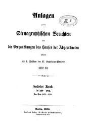Stenographische Berichte über die Verhandlungen: Band 6