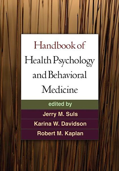 Download Handbook of Health Psychology and Behavioral Medicine Book