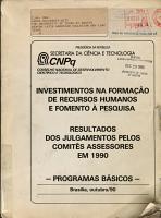 Investimentos na forma    o de recursos humanos e fomento    pesquisa PDF