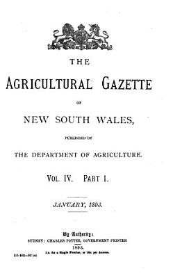 The Agricultural Gazette of New South Wales