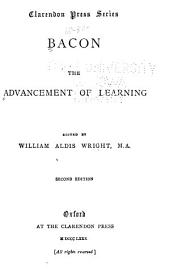 Bacon: The Advancement of Learning