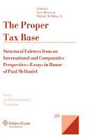 The Proper Tax Base