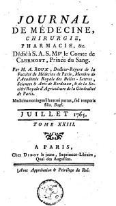 Journal de médecine, de chirurgie et de pharmacie: Volume23