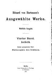 Philosophie des Schönen: zweiter systematischer Theil der Aesthetik