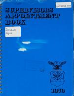Supervisor's Appointment Book