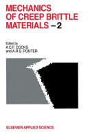 Mechanics of Creep Brittle Materials 2