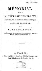 Mémorial pour la défense des places: faisant suite au Mémorial pour l'attaque