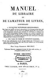 Manuel du libraire et de l'amateur de livres etc. 3. ed. augm