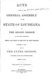 Acts Passed by the General Assembly of the State of Louisiana at the Session of the Legislature