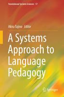 A Systems Approach to Language Pedagogy PDF