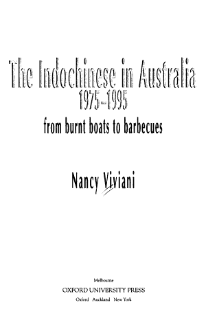 The Indochinese in Australia  1975 1995 PDF