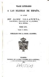 Viage literario a las iglesias de España: Viage á Lérida, Volumen 16