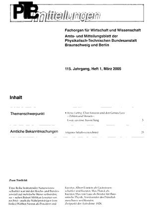 PTB Mitteilungen Forschen und Prhufen PDF