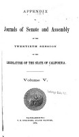 Appendix to the Journals of the Senate and Assembly PDF