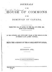 Journals of the House of Commons of the Dominion of Canada: Volume 21