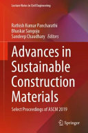Advances in Sustainable Construction Materials PDF