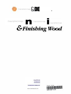 Refinishing   Finishing Wood PDF