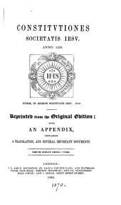 Constitutiones Societatis Iesu, anno 1558
