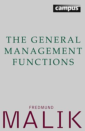 The General Management Functions PDF