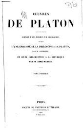 Oeuvres de Platon: Volume1