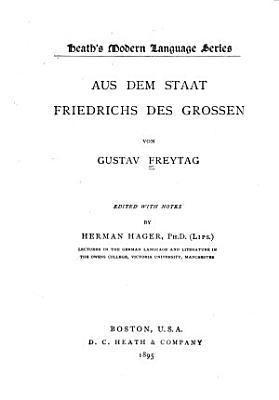 Aus dem Staat Friedrichs des Grossen PDF