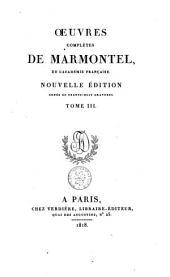 Œuvres complètes de Marmontel: Volume3