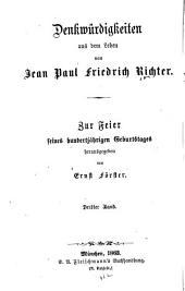 Denkwürdigkeiten aus dem Leben von Jean Paul Friedrich Richter ...