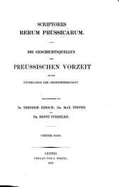 Scriptores rerum Prussicarum: Band 4