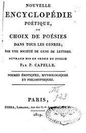 Nouvelle Encyclopédie poétique ou choix de poésies dans tous les genres: Volume3