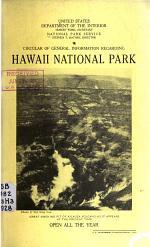 Circular of General Information Regarding Hawaii National Park