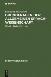 Grundfragen der allgemeinen Sprachwissenschaft: Ausgabe 3