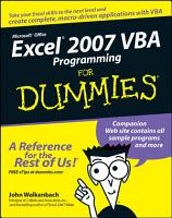 Excel 2007 VBA Programming For Dummies PDF