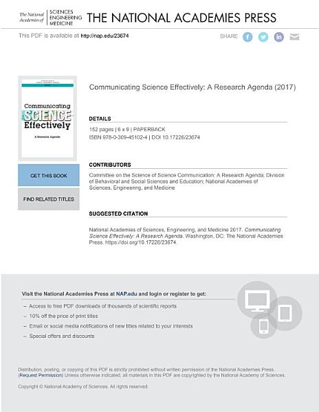 Download Communicating Science Effectively Book