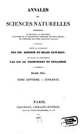 Annales des sciences naturelles: Volume 7