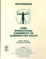 Proceedings of the Third International Conference on Aluminum and Health