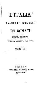 Antichi monumenti per servire all' opera intitolata L'Italia avanti il dominio dei Romani