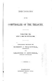 Decisions of the Comptroller of the Treasury