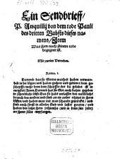Ein Sendbrieff von dem Tode P. Pauli III.