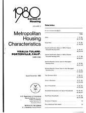 1980 Census of Housing: Metropolitan housing characteristics. Visalia-Tulare-Porterville, Calif, Volume 2
