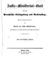 Deutsche justiz: Rechtspflege und rechtspolitik ... Amtliches blatt der deutschen rechtspflege, Band 39