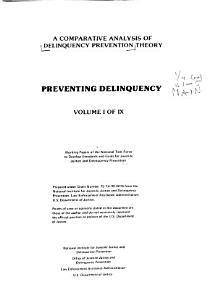 A Comparative Analysis of Delinquency Prevention Theory PDF