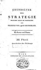 Grundsätze der Strategie: erläutert durch die Darstellung des Feldzugs von 1796 in Deutschland. Geschichte des Feldzugs, Band 3