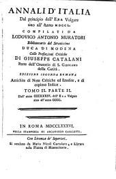 Annali d'Italia: dal principio dell'era volgare sino all'anno MDCCL, Volume 2,Parte 2